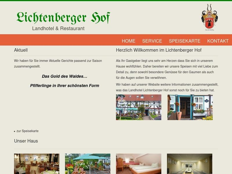 Screenshot von http://lichtenberger-hof.de